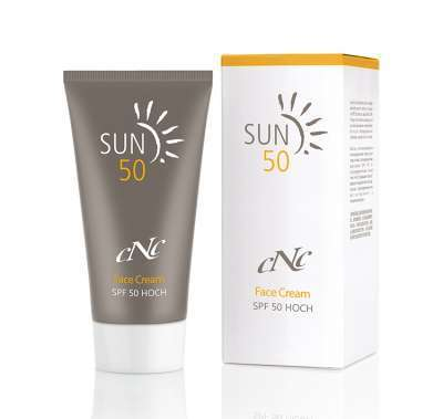 cNc Sun Face Cream, SPF 50, 50 ml
